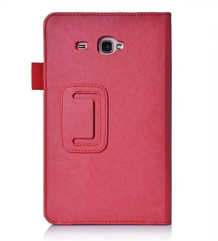 galaxy tab a 7 0 2016 plain case with card sections Red: