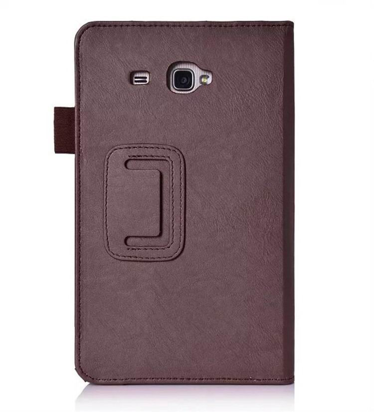 galaxy tab a 7 0 2016 plain case with card sections Brown: