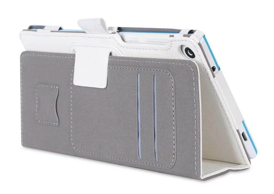 tab3 7 plain case with card slots and handle White:
