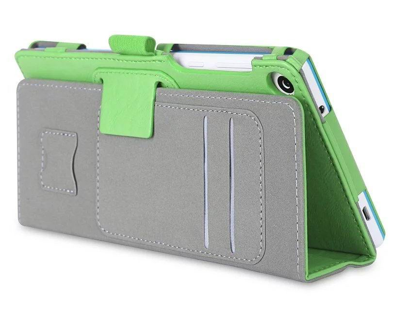 tab3 7 plain case with card slots and handle Green:
