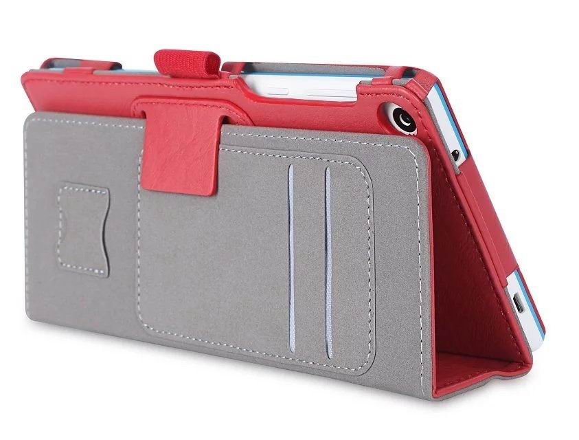 tab3 7 plain case with card slots and handle Red: