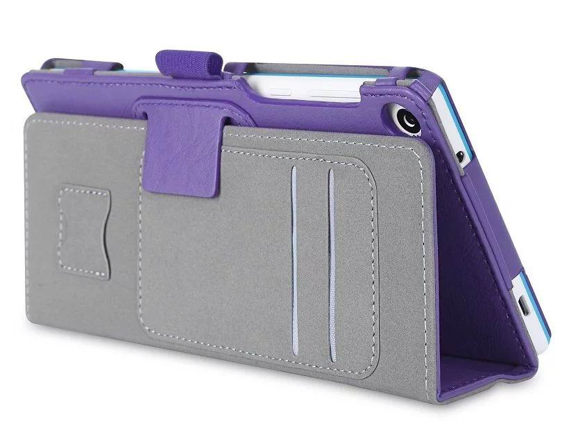 tab3 7 plain case with card slots and handle Purple: