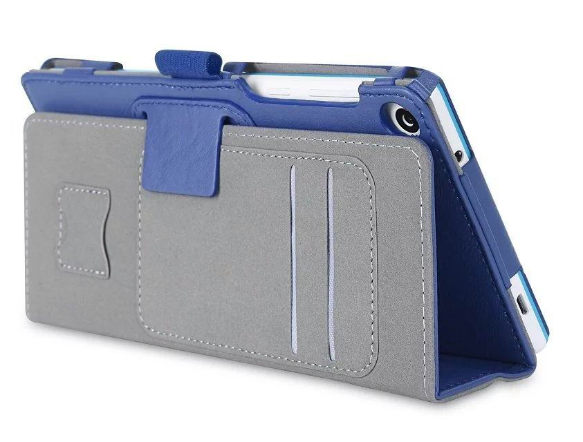 tab3 7 plain case with card slots and handle Dark blue: