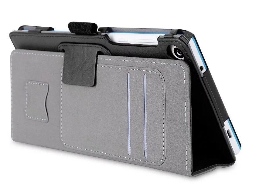 tab3 7 plain case with card slots and handle Black: