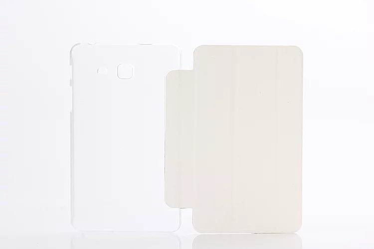 galaxy tab a 7 0 2016 plain case with transparent housing White:
