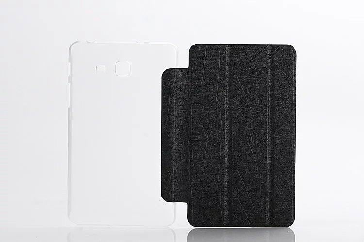 galaxy tab a 7 0 2016 plain case with transparent housing Black: