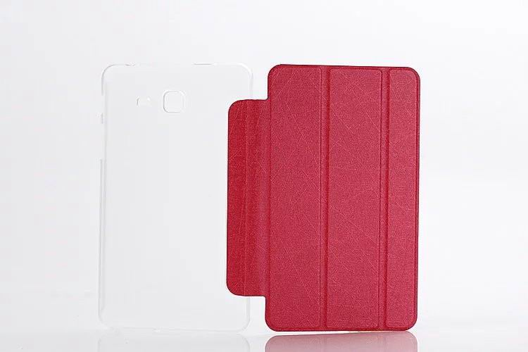galaxy tab a 7 0 2016 plain case with transparent housing Rose red: