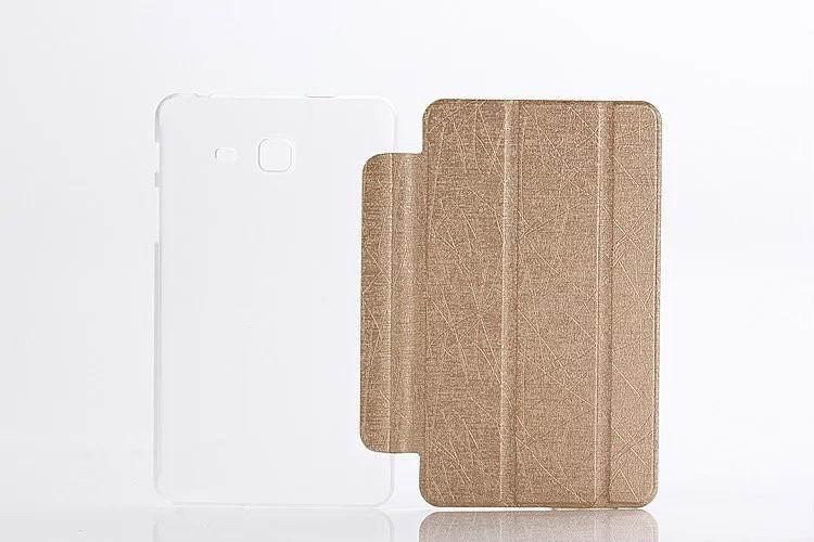 galaxy tab a 7 0 2016 plain case with transparent housing Golden:
