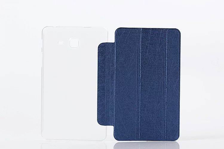 galaxy tab a 7 0 2016 plain case with transparent housing Dark blue: