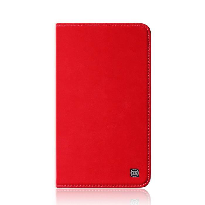 mediapad m3 plain leather case red: