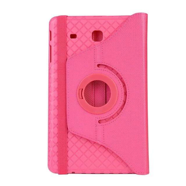 galaxy tab e 8 0 plain rotating case 2 Rose red: