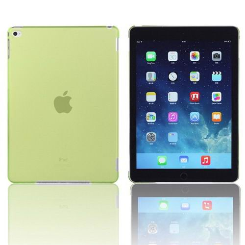 Plastic transparent multicolor cover for iPad Air 2 green color