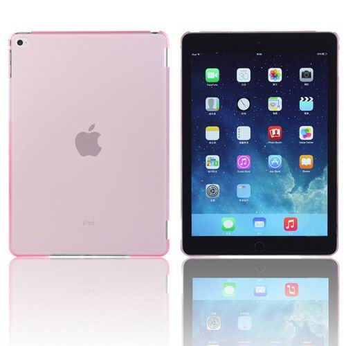 Plastic transparent multicolor cover for iPad Air 2 pink color