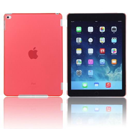 Plastic transparent multicolor cover for iPad Air 2 red color