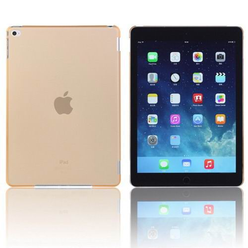 Plastic transparent multicolor cover for iPad Air 2 Yellow color