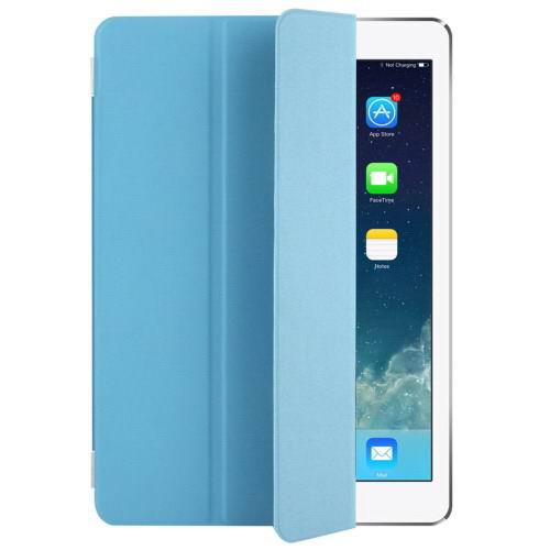 Polyurethane case with multicolor pattern and 3-Folding Holder for iPad Pro 9.7 inch Blue color