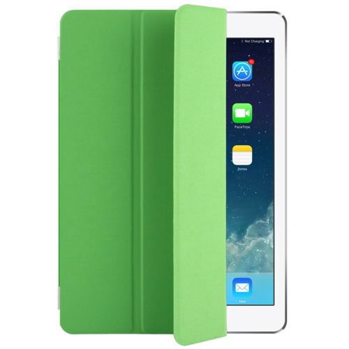 Polyurethane case with multicolor pattern and 3-Folding Holder for iPad Pro 9.7 inch Green color