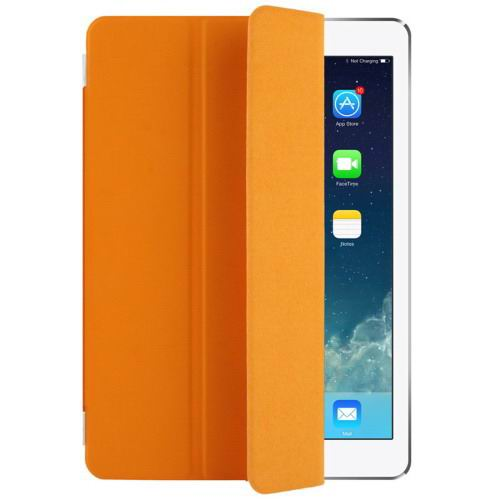 Polyurethane case with multicolor pattern and 3-Folding Holder for iPad Pro 9.7 inch Orange color