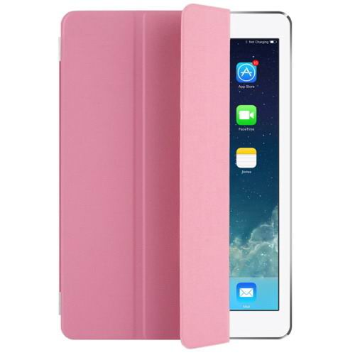 Polyurethane case with multicolor pattern and 3-Folding Holder for iPad Pro 9.7 inch Pink color