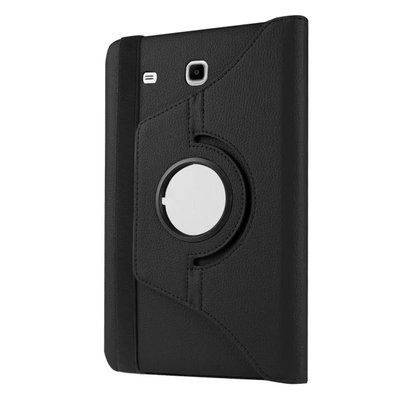 galaxy tab e 8 0 rotating case with an elastic band black: