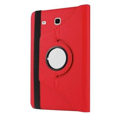 galaxy tab e 8 0 rotating case with an elastic band red:
