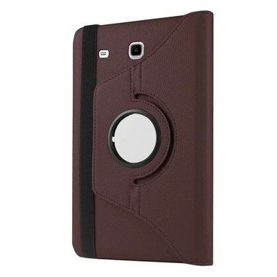 galaxy tab e 8 0 rotating case with an elastic band brown: