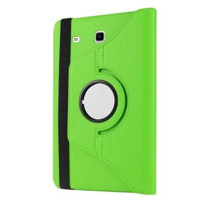 galaxy tab e 8 0 rotating case with an elastic band green: