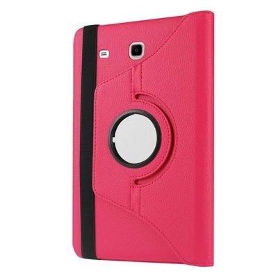 galaxy tab e 8 0 rotating case with an elastic band rose red: