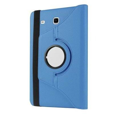 galaxy tab e 8 0 rotating case with an elastic band sky blue: