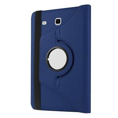 galaxy tab e 8 0 rotating case with an elastic band deep blue: