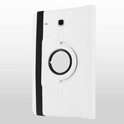 galaxy tab e 8 0 rotating case with an elastic band white: