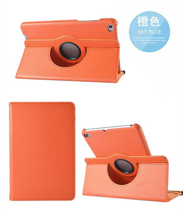 mediapad m3 rotating plain case orange: