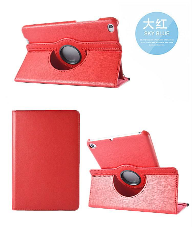 mediapad m3 rotating plain case red: