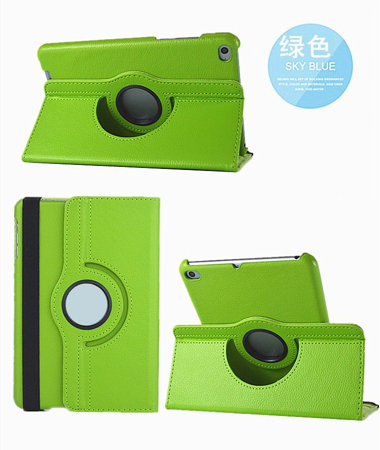 mediapad m3 rotating plain case green: