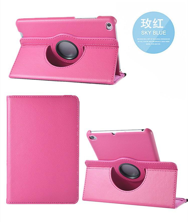 mediapad m3 rotating plain case pink: