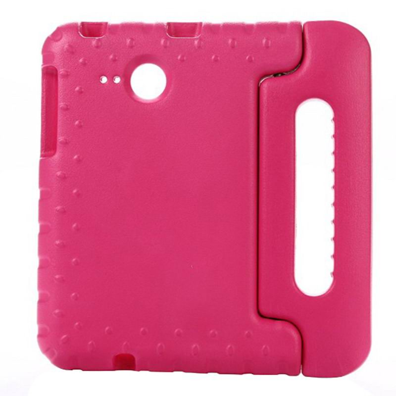 galaxy tab a 7 0 2016 silicone case with handle Rose red: