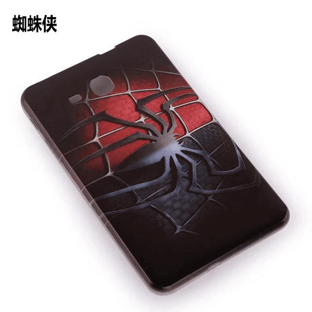 galaxy tab j silicone cover with cartoon pictures of kitty spider man and other 1: