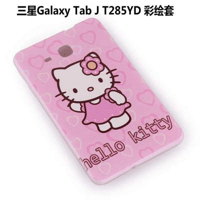 galaxy tab j silicone cover with cartoon pictures of kitty spider man and other 3: