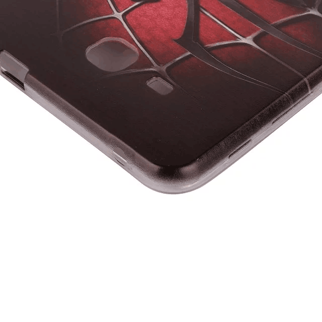 galaxy tab j silicone cover with cartoon pictures of kitty spider man and other