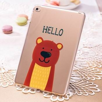silicone transparent cover with cute pictures of rabbit or bear 00
