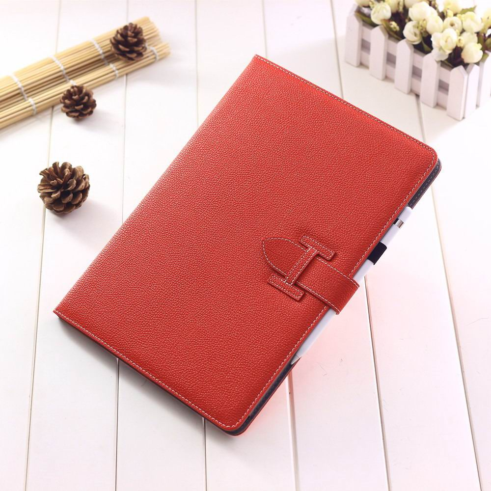 ipad pro 12 inch single colored case with handle and card section red: