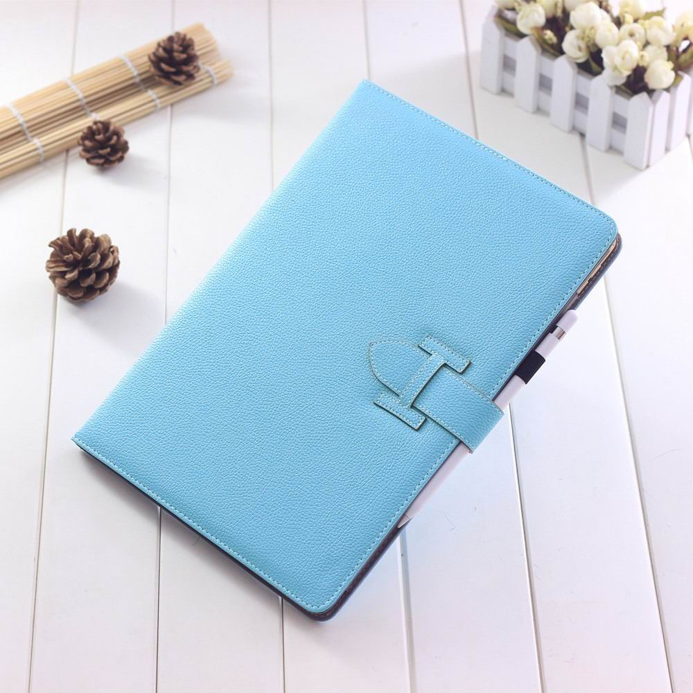 ipad pro 12 inch single colored case with handle and card section sky blue: