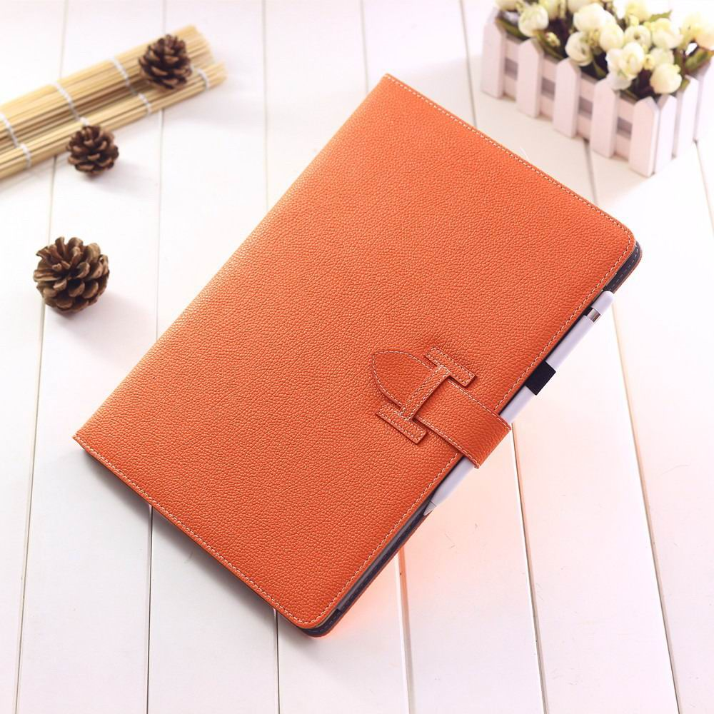 ipad pro 12 inch single colored case with handle and card section orange: