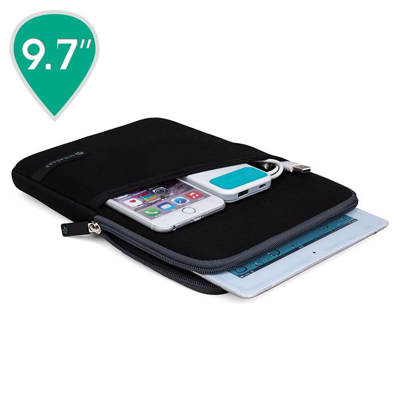 Sleeve of diving fabric for iPad Pro 9.7 inch, iPad 2, iPad 3, iPad 4, iPad Mini 1, iPad Mini 2, iPad Mini 3, iPad Mini 4