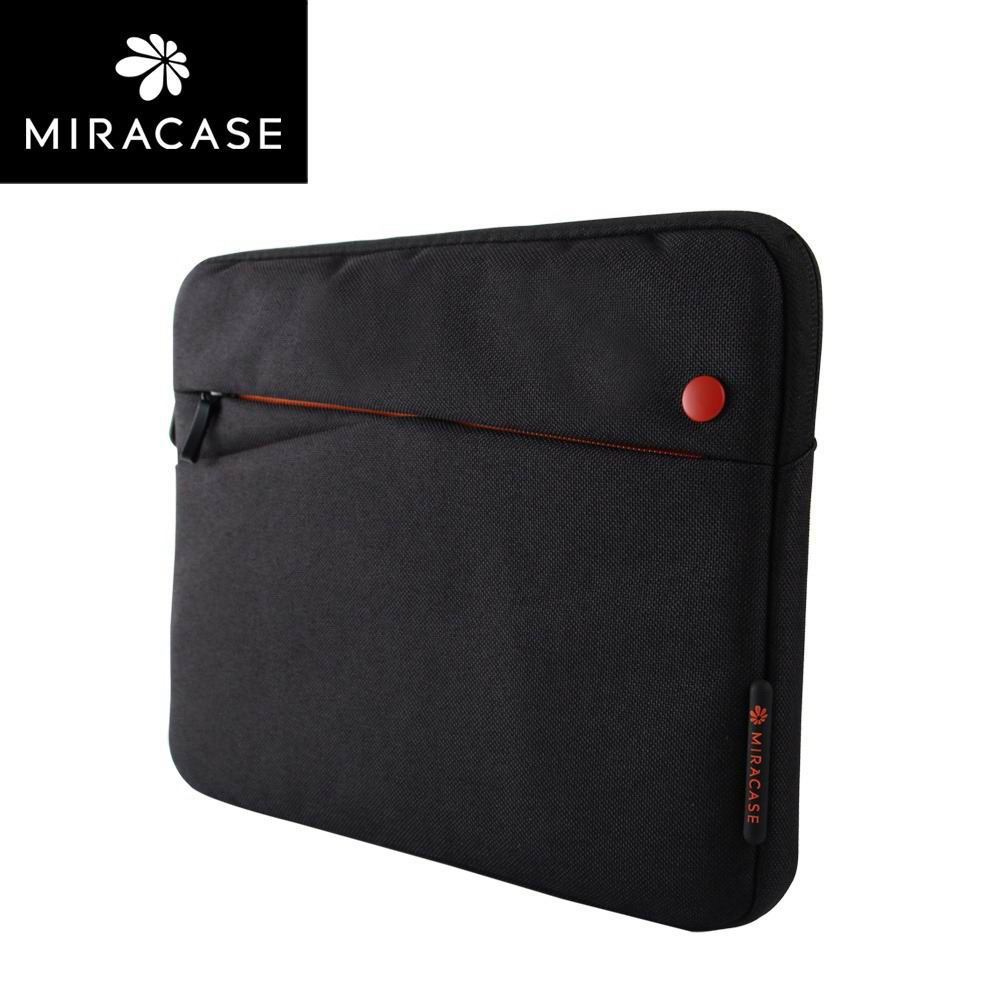 ipad pro 9 inch sleeve of fabric with zipper 2 Black with orange:
