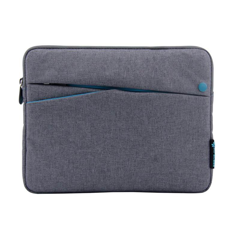 ipad pro 9 inch sleeve of fabric with zipper 2 Gray with blue: