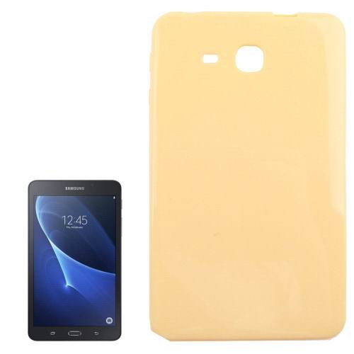 Smooth surface TPU cover for Samsung Galaxy Tab A 7.0 2016 yellow color
