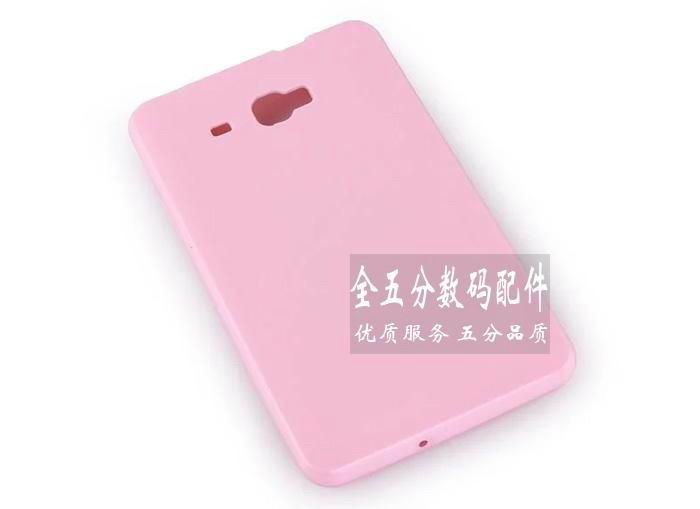 galaxy tab a 7 0 2016 transparent rubber cover Pink: