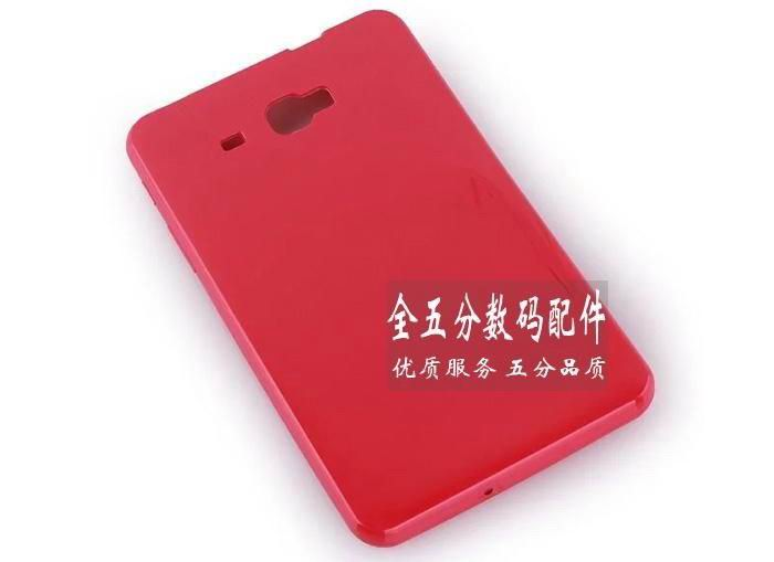 galaxy tab a 7 0 2016 transparent rubber cover Rose red: