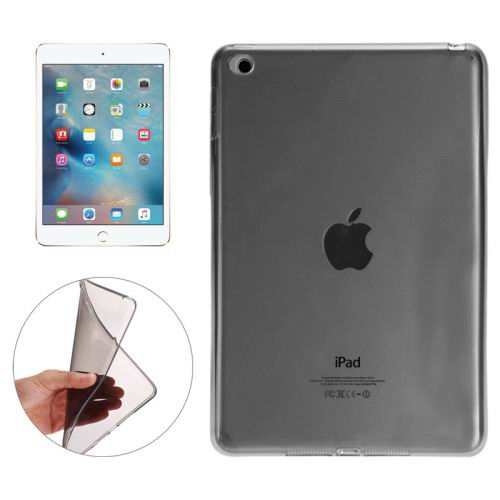 Transparent TPU cover with multicolor pattern for iPad Mini 4 Black color